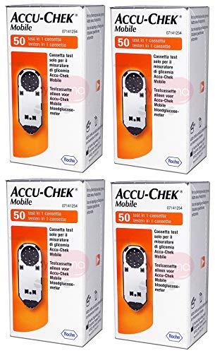 ACCU Chek mobil - 200 Kassette test für Kontrolle von Blutzucker - accucheck