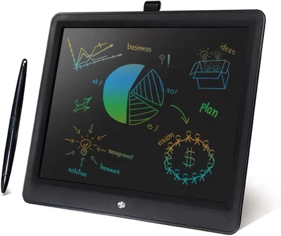 Christmas Thanksgiving Gift JIANGXIUQIN LCD Board 15 Inches Electronic Drawing and Writing Board for Kids and Adults at Home School and Office Color : Black, Size : 15 inches Black