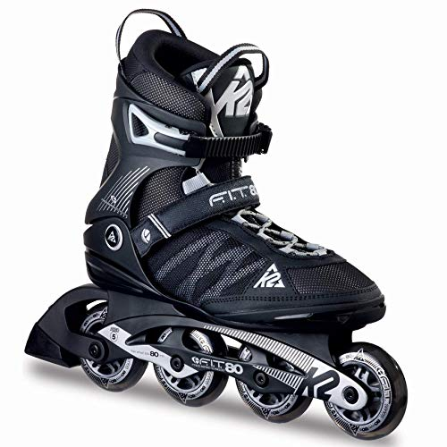 K2 Herren Inline Skates F.I.T. 80 - Schwarz-Grau - EU: 42.5 (US: 9.5 - UK: 8.5) - 30A0003.1.1.095