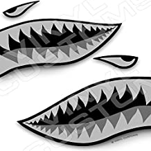 Flying Tigers Shark Mouth Teeth Vinyl Decals Car Truck Boat Graphics Tactical (12