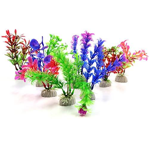 letuxiashop Plantas artificiales, decoración de acuario, simulación de plantas acuáticas para acuarios, paisajismo, plantas de plástico adecuadas para acuarios, plantas y paisajes.