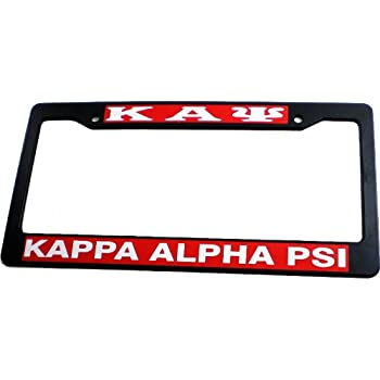 Plastic License Plate Frame Kappa Alpha Psi