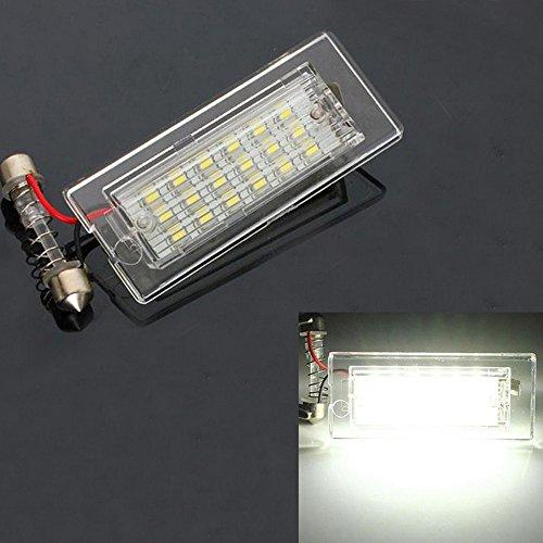GOFORJUMP 1 Paire Voiture LED Plaque D'immatriculation Lumières 3528 SMD 18 LED Queue Blanche Ampoules pour BMW E53 / X5 E83 X3