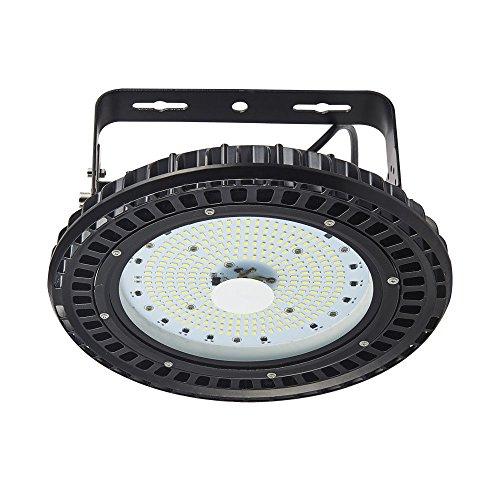 UFO LED Hallenleuchte Fabriklampen, TEquem 100W LED High Bay Light Flutlicht für Gewerbe und Industriebeleuchtung, 12000LM, 120°Abstrahlwinkel, Kaltweiß 6000-6500K,Super Hell Wasserdicht,CE