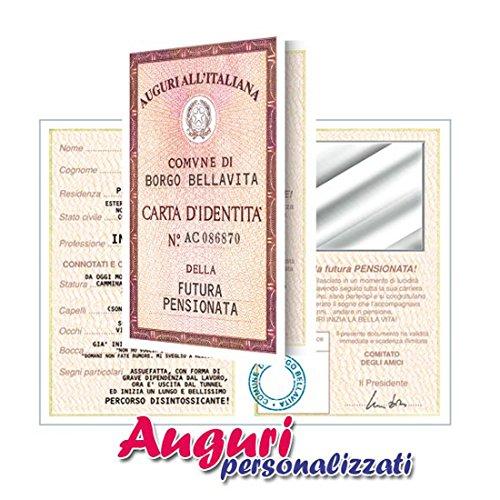 Bombo Biglietto Carta D'Identità Pensionata