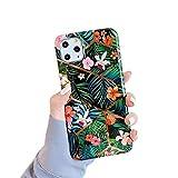 Coque iPhone 11, Coque iPhone 11 Pro Housse de Protection Case Élégant Bling Mode Chic Fleurs...
