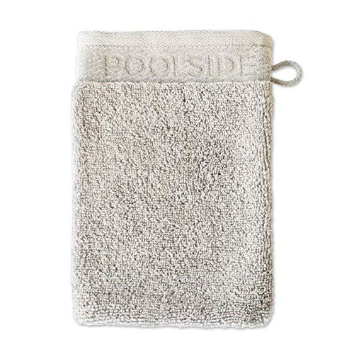 MÖVE Poolside - Manopla de baño (20 x 15 cm, Fabricada en Alemania, 100% algodón, Cachemir), Color Beige