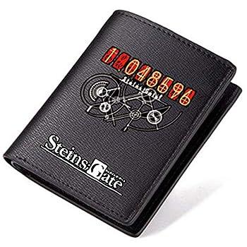 Siawasey Anime Steins Gate Printing Men PU Leather Coin Purse Case Wallet Passport ID Card Holder  Steins Gate-Short2