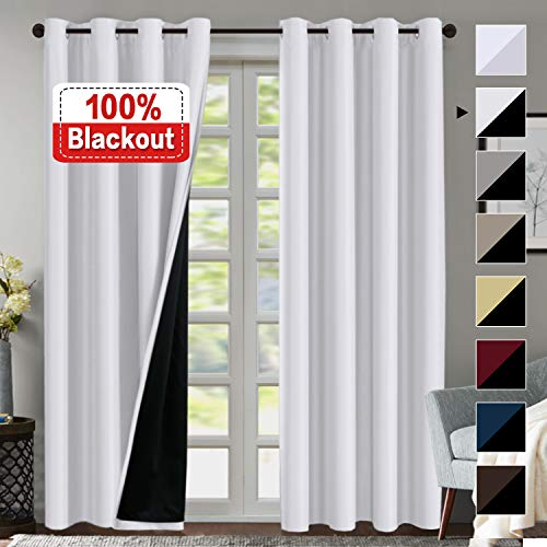 Blackout White Curtains for Bedroom