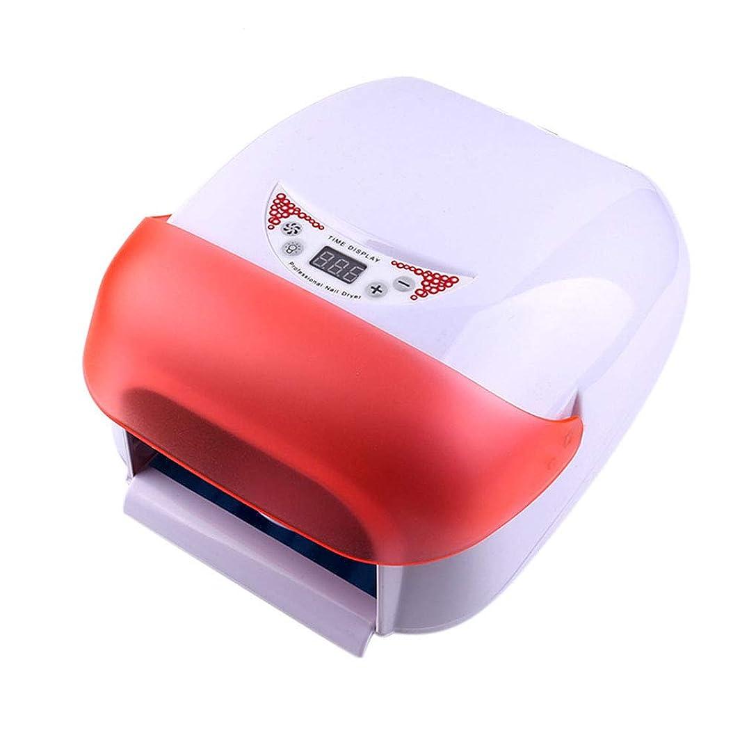 胃地域ローズ36ワットネイルドライヤー、ネイル用ポータブルLED/UVランプ、赤外線センサー、LCDディスプレイ、すべてのジェルに適して,Red