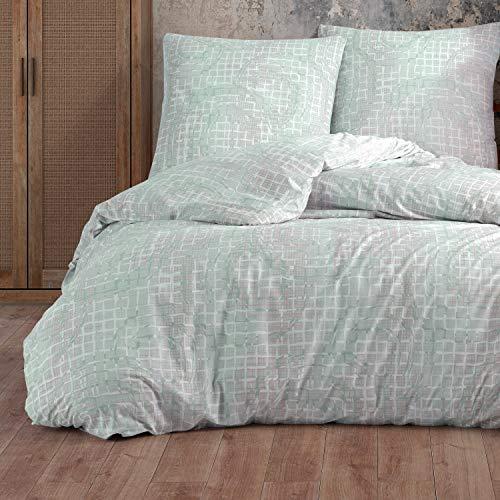 Juego de ropa de cama de 135 x 200 cm, 4 piezas, 100% algodón, con cremallera, funda de edredón y fundas de almohada, tamaño estándar, diseño barroco, color negro y rojo