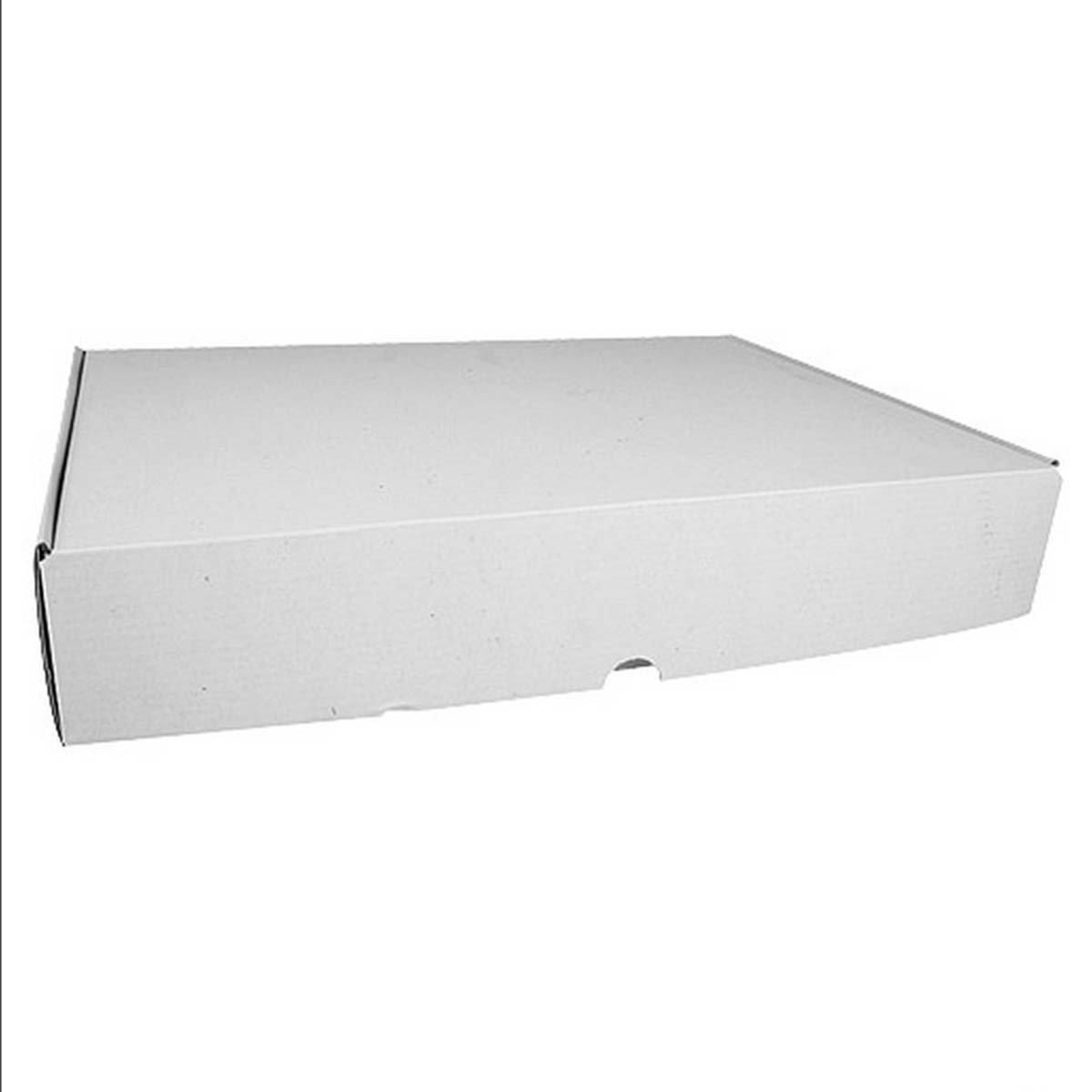 Pick d Pack - Caja carton rectangular blanca 35x26x6cm con tapa: Amazon.es: Hogar