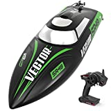 VOLANTEXRC Brushless RC Boat Vector SR48 for Kids and Adults, 35mph High-Speed Remote Control Boat Ready to Run with Self-Righting & Reverse Function for Pool & Lake (797-3)