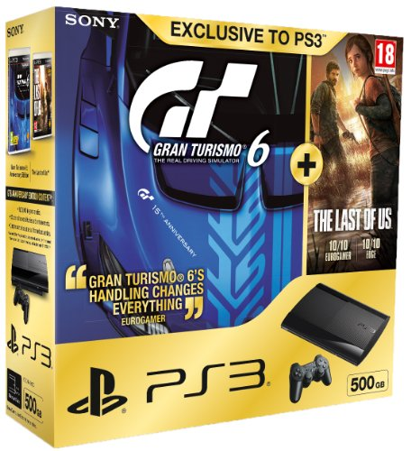 Sony Playstation 3 500 GB Super Slim Console With Gran Turismo 6...