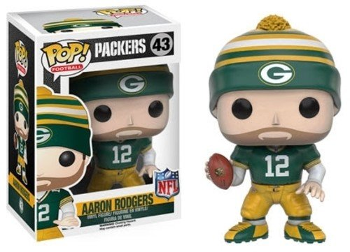 Funko POP NFL: Wave 3 - Aaron Rodgers Action Figure,Multi-colored