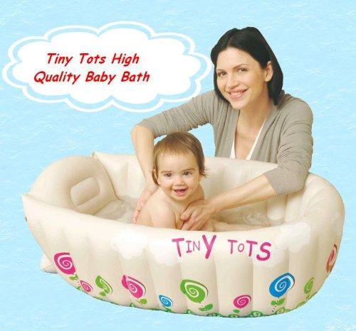 Tiny Tots Baby Infant Travel Inflatable Bath Tub Cream Colou