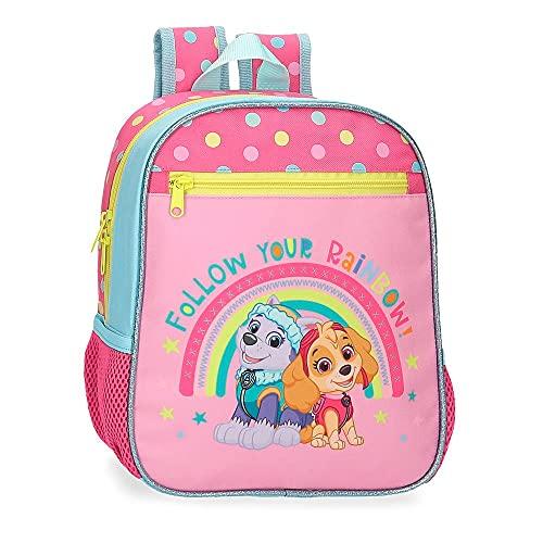 La Patrulla Canina Paw Patrol Follow Your Rainbow Mochila Adaptable Rosa 23x28x10 cms Poliéster 6,44L