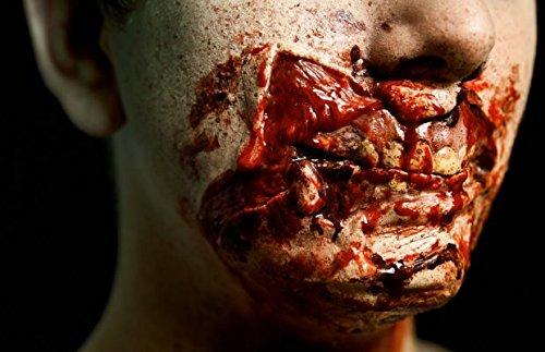 Meralens Latex Maske Körperteile Fasching Zombie Klaffende Wunde und Zombie Mund Topqualität zu...