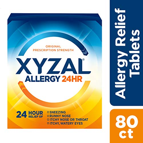 Xyzal Allergy 24 Hour, Allergy Tablet, 80 Count, All Day and Night...