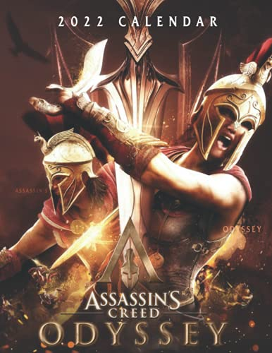 Assassin's Creed Odyssey Calendar 2022: OFFICIAL game calendar. This incredible cute calendar july 2021 to december 2022 with high quality pictures .Gaming calendar 2021-2022. Calendar video games