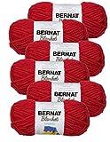 Bernat Blanket Brights Yarn-6/Pk-Race, 6/Pk, Race Car Red 6 Pack