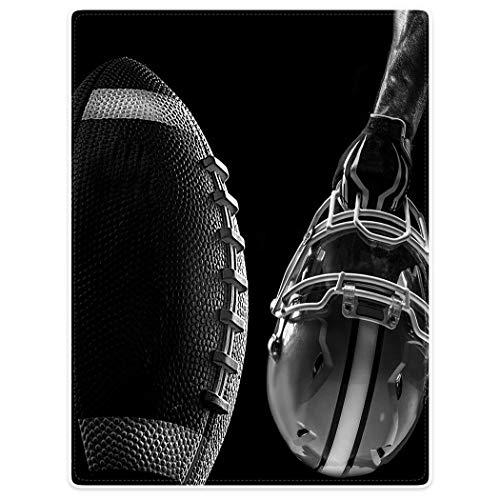 Mesllings Dik Zacht Warm Gezellige Flanellen Fleece Sofa Dekbedovertrek Amerikaanse Voetbal Praktijk Maakt Masker, Flannelet, Grijs, 125 x 150cm