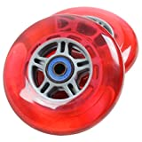 TGM Skateboards 2 Scooter Wheels with ABEC 7 Bearings for Razor Scooter 100mm...