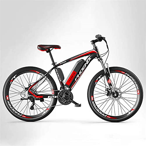 ZMHVOL Ebikes, Adult Mountain Electric Bike Mens, 27 speed Off-Road Electric Bicycle, 250W Electric Bikes, 36V Lithium Battery, 26 Inch Wheels ZDWN (Color : B, Size : 8AH)