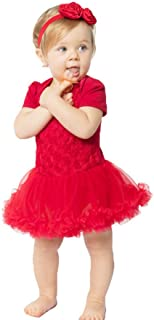 red rose dress for baby girl