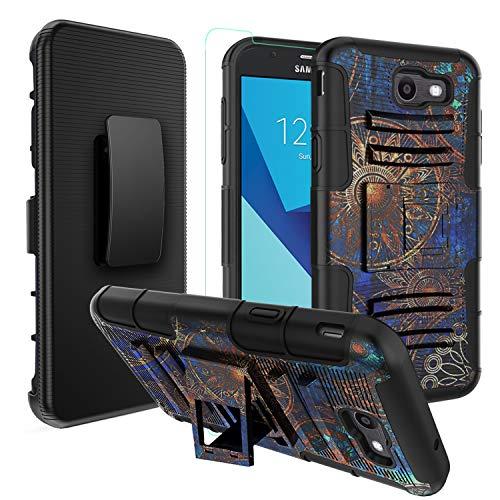 OEAGO Samsung Galaxy J7 V J7V 1st Gen 2017 Case, J7 Prime Case, Galaxy J7 Perx Case, Galaxy J7 2017 Case, Galaxy J7 Sky Pro Case, Halo Case, Tough Rugged Dual Layer Kickstand -Dark Celestial Pattern