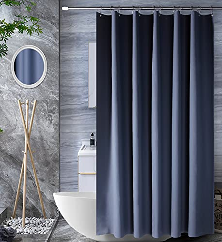 Amazon Brand - Umi Duschvorhang 180x180cm, Shower Curtains Antibakteriell Vorhang für Dusche & Badewanne, Badvorhänge, Wasserdichter Badezimmervorhang, Duschvorhänge - Dunkelgrau