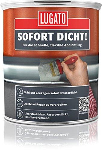 Lugato Sofort Dicht! 750 ml - Wasserdichte, flexible Streichabdichtung für das Dach