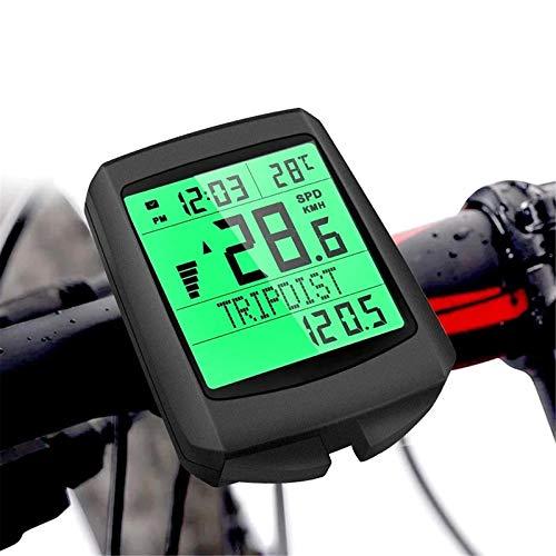 El Odómetro De Bicicleta Multifuncional, La Computadora De La Bicicleta Impermeable, La Pantalla Datos De Conducción En Tiempo Real, La Pantalla De Retroiluminación Verde Y El Despertador Automático