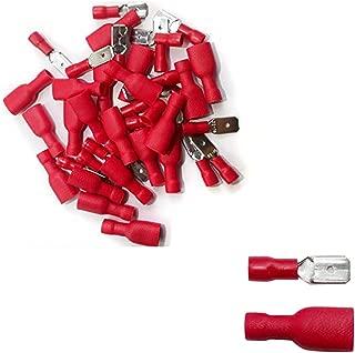 1,5 mm² 100 unidades zapatos de cable conector redondo rojo conector para cable de 0,5mm²