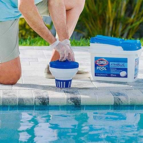 Clorox Pool&Spa Xtra Blue 3-Inch Long Lasting Chlorinating Tablets, 5-Pound 23005CLX
