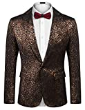 COOFANDY Men's Luxury Design Suit Jacket Fashion Blazer Tuxedo