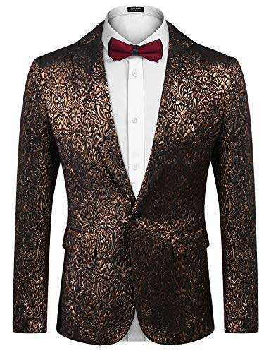 COOFANDY Men's Luxury Design Suit Jacket Fashion Blazer Tuxedo