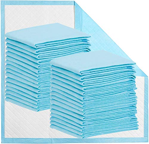 """Disposable Bed Pads 32"""" x 36"""" Incontinence Pads Heavy Absorbency Underpads Waterproof 5-Layer Protection as Bed Protectors and Pee Pads (36x32 Inch (Pack of 50))"""
