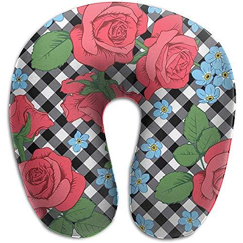 Warm-Breeze Cojín de Espuma viscoelástica Rosas Rojas y Flores de mi