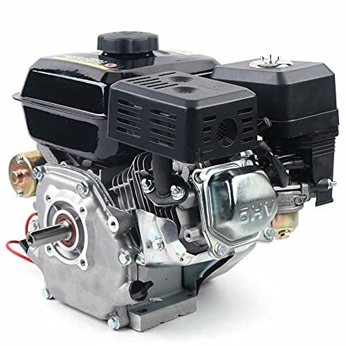 Motor de gasolina, 7,5 CV, 4 tiempos, motor de kart, arranque eléctrico, eje lateral, OHV, alimentación por gravedad, para bombas y barcos