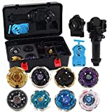Beyblade Tripie 8 Pieces Speed Gyro Metal Combat Toupie Set 4D Fusion Model Combination with Transmitter and Handle-mi Improve