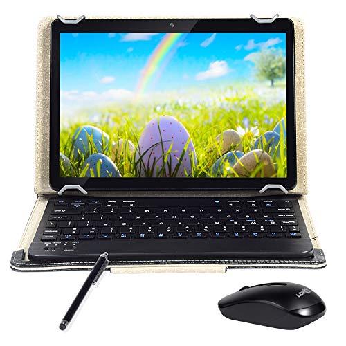 Android Tablet 10 inch Quad-Core-Prozessor 4 GB RAM und 64 GB Tablet PC WiFi-Speicher GPS-Kamera und Zwei Kartensteckplätze (3G Schwarz)