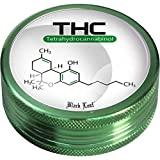 Black leaf 2-piece aluminium grinder - Chemistry (50mm)