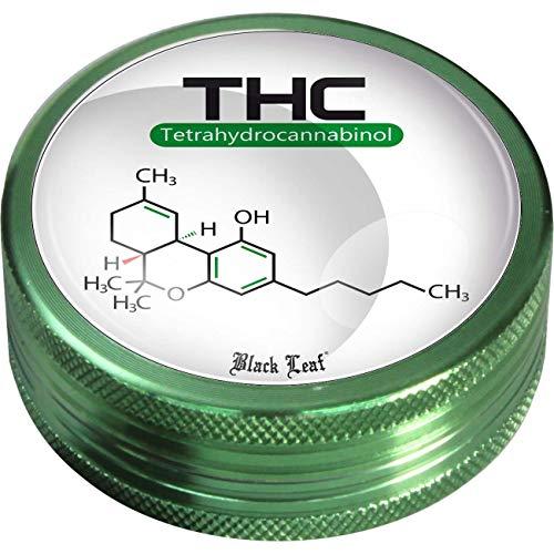 Grinder von Black Leaf -Molecule- H20mm 2-tlg Ø50mm mit Diamantschliff