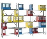 SMARTFACTS Archiv Regalsystem mit 15 Stahlböden für Aktenregal