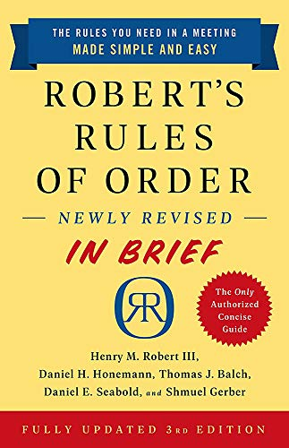 Real Estate Investing Books! - Robert's Rules of Order Newly Revised in Brief