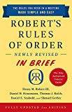 Image of Robert's Rules of Order Newly Revised in Brief