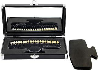 ミラー付き歯科用シェードガイドプロの歯のホワイトニング、クリーニング、修復に役立つ歯科用ツール— 20色は、歯科用の必需品になります