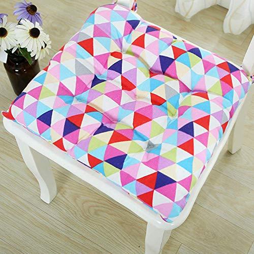 NSYNSY - Cojín de silla de gran tamaño, color sólido con relleno de papasán, se hunde en nuestro grueso y cómodo papasán, silla no incluida, 105 x 105 cm (cojín solamente)