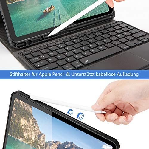Jelly Comb Beleuchtete Tastatur Hülle mit Touchpad für New iPad Air 4 10.9